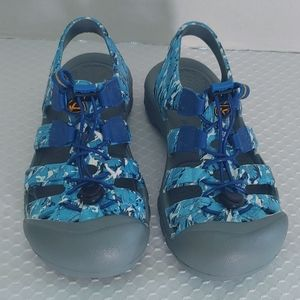 Keen Water SunSport Sandals Blue Camo Camouflage